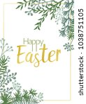 happy easter vector cards with... | Shutterstock .eps vector #1038751105