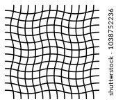 wavy  zig zag  criss cross grid ... | Shutterstock .eps vector #1038752236