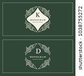 monogram design elements ... | Shutterstock .eps vector #1038755272