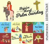 religion holiday palm sunday... | Shutterstock .eps vector #1038756265