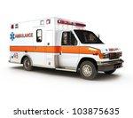 Ambulance On A White Backgroun...
