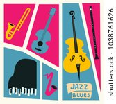 jazz music festival poster with ...