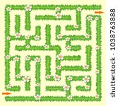 labyrinth. maze game for kids.... | Shutterstock .eps vector #1038763888