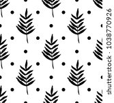 botanical seamless pattern with ... | Shutterstock .eps vector #1038770926