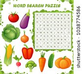 word search puzzle. vector... | Shutterstock .eps vector #1038774586