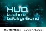 hud technology green background ...