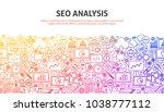 seo analysis concept. vector... | Shutterstock .eps vector #1038777112