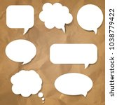 speech bubble set with gradient ... | Shutterstock .eps vector #1038779422