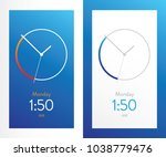 clock application blue ui...