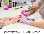 close to the hands of the... | Shutterstock . vector #1038783925