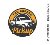 pick up truck car vector logo... | Shutterstock .eps vector #1038786778