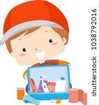 illustration of a kid boy...   Shutterstock .eps vector #1038792016