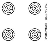 maze icon set | Shutterstock .eps vector #1038792442
