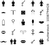 man and woman icon set | Shutterstock .eps vector #1038794428