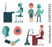 artificial intelligence set  ... | Shutterstock .eps vector #1038795922