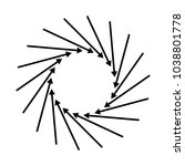 concentric  radial  radiating...   Shutterstock .eps vector #1038801778