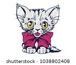 cat cartoon mascot  in... | Shutterstock .eps vector #1038802408