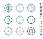 different icon set of targets... | Shutterstock .eps vector #1038803032