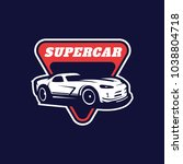 supercar  sport car vector logo ... | Shutterstock .eps vector #1038804718