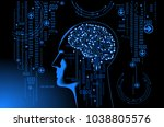 neural network. deep learning.... | Shutterstock .eps vector #1038805576