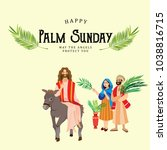 religion holiday palm sunday... | Shutterstock .eps vector #1038816715