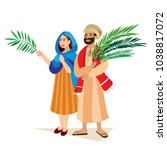 religion holiday palm sunday... | Shutterstock .eps vector #1038817072
