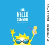 hello summer rock n roll vector ... | Shutterstock .eps vector #1038817498