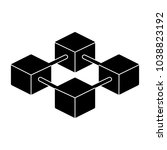 blockchain icon.  96x96 for web ... | Shutterstock .eps vector #1038823192