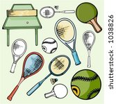 a set of 5 tennis  table tennis ... | Shutterstock .eps vector #1038826