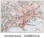 vintage map of naples  napoli ... | Shutterstock . vector #103883216