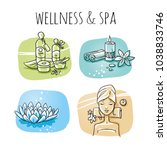 icon item set wellness  spa ... | Shutterstock .eps vector #1038833746