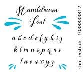 hand drawn vector alphabet....   Shutterstock .eps vector #1038833812