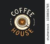 set of coffee logos. modern... | Shutterstock .eps vector #1038836785