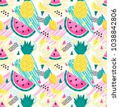 bright vector pattern with... | Shutterstock .eps vector #1038842806