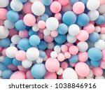 Many colorful balloons...
