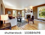 classic brown and white living... | Shutterstock . vector #103884698