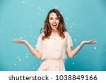 portrait of a cheerful... | Shutterstock . vector #1038849166