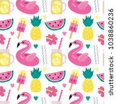 bright vector pattern with... | Shutterstock .eps vector #1038860236