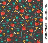 vintage floral pattern. cute... | Shutterstock .eps vector #1038860782