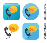 24 7 customer service icon  ... | Shutterstock .eps vector #1038862042