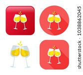 champagne bottle icon   drink... | Shutterstock .eps vector #1038862045