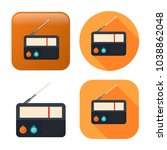 retro radio icon   media and... | Shutterstock .eps vector #1038862048