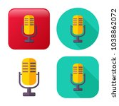 retro microphone icon   sound... | Shutterstock .eps vector #1038862072