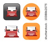typewriter machine icon   type... | Shutterstock .eps vector #1038862075