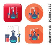 laboratory tubes icon  ... | Shutterstock .eps vector #1038862132