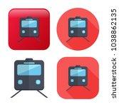 railway icon   vector train  ... | Shutterstock .eps vector #1038862135