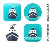 cruise ship icon   vector boat  ... | Shutterstock .eps vector #1038862165
