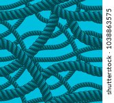 rope seamless pattern  trendy...   Shutterstock .eps vector #1038863575