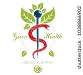 caduceus symbol  healthcare... | Shutterstock .eps vector #1038866902