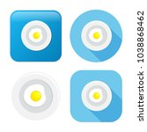 fried egg icon   breakfast meal ... | Shutterstock .eps vector #1038868462